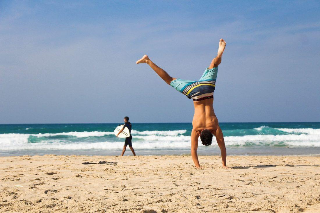 fit tijdens vakantie